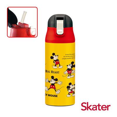 Skater不鏽鋼保溫吸管瓶(360ml)米奇Cheerful