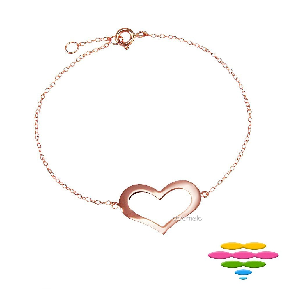 彩糖鑽工坊 愛心手鍊 銀鍍玫瑰金手鍊 桃樂絲 Doris系列