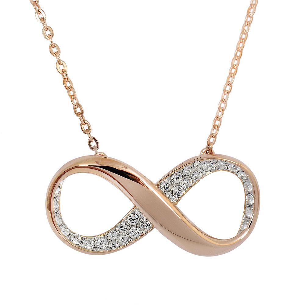 SWAROVSKI 施華洛世奇 EXIST無限造型水晶玫瑰金項鍊