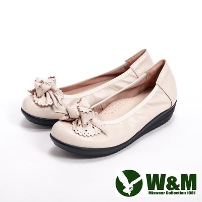 【W&M】日系造型休閒鞋女鞋-米