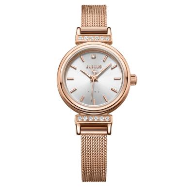 JULIUS聚利時 爵士女伶米蘭錶帶腕錶-玫瑰金/22.5mm