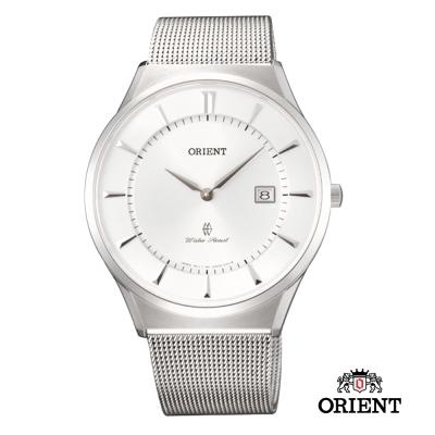 ORIENT 東方錶 SLIM系列 超薄時尚簡約藍寶石鏡面石英錶-白色/41mm