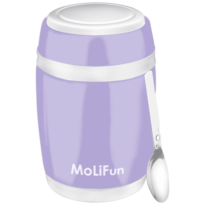 MoliFun魔力坊 不鏽鋼真空保鮮保溫燜燒食物罐 480 ml