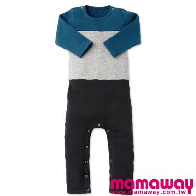 Mamaway-色塊剪接連身包屁衣-共二色