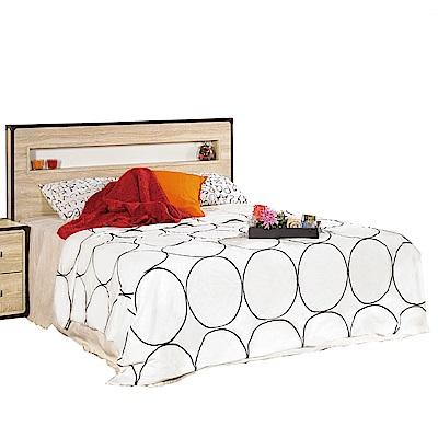 品家居  維卡5尺雙人床片型收納床台組合(不含床墊)-156x198x110cm免組