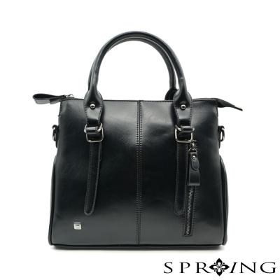SPRING-品味英倫率性2way包-黑