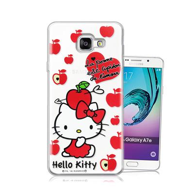 三麗鷗正版 凱蒂貓 Samsung Galaxy A7 (2016)透明軟式保護...