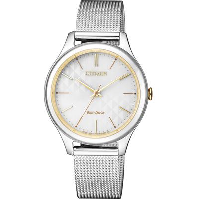 CITIZEN 星辰 風情萬種米蘭風時尚腕錶(EM0504-81A)-銀色/32mm
