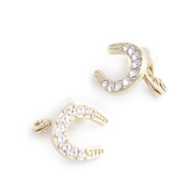 JewCas Air Earrings系列馬蹄形水晶空氣耳夾_JC2513