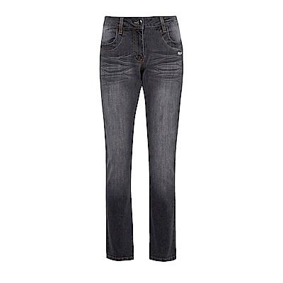 FILA 女款牛仔褲-黑 5PNS-1462-BK