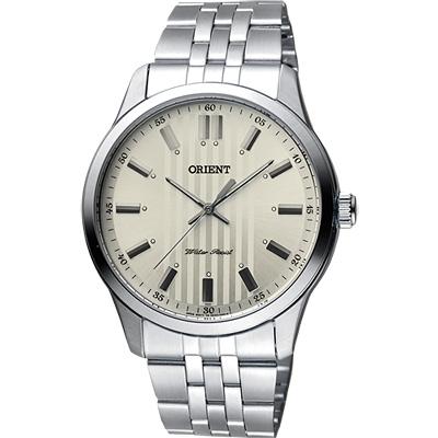 ORIENT 東方錶 都會雅仕石英錶-灰x銀/ 42 mm