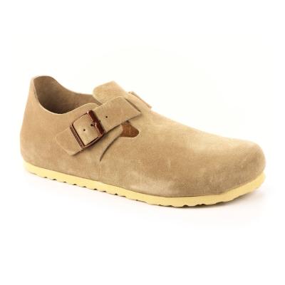 勃肯BIRKENSTOCK 1004281。倫敦 扣帶休閒鞋(淡米褐色)