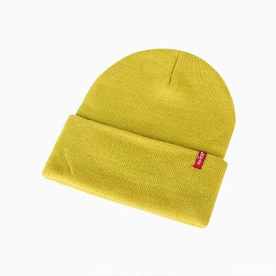男款針織帽-黃綠色-Levis