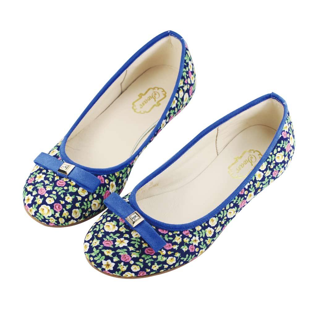Swan天鵝童鞋-小碎花親子鞋 / 媽咪款8617-藍