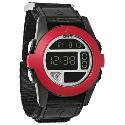 NIXON The BAJA 核心啟程多功能概念運動錶-黑x紅/47mm