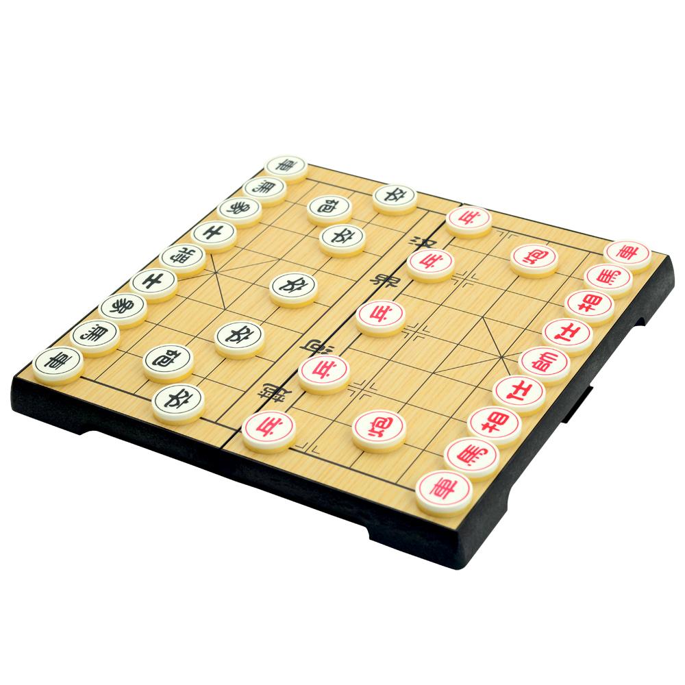 星羅棋布 折疊收納式磁性象棋棋盤組