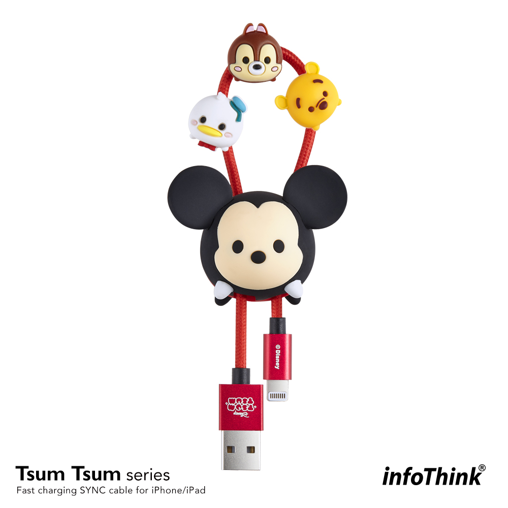 InfoThink TSUM TSUM iPhone/iPad快充傳輸線-米奇