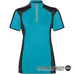 【加拿大STORMTECH】機能吸排防曬拉鍊立領衫IPZ-1W女-淺藍