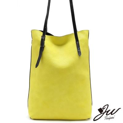 JW米蘭時尚素面大容量子母肩斜包-共4色-檸檬黃