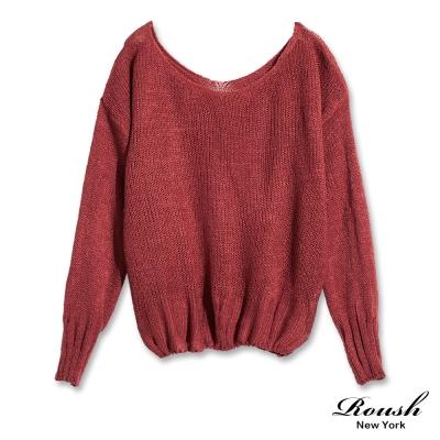 ROUSH 女生大V領素面針織衫 (3色)