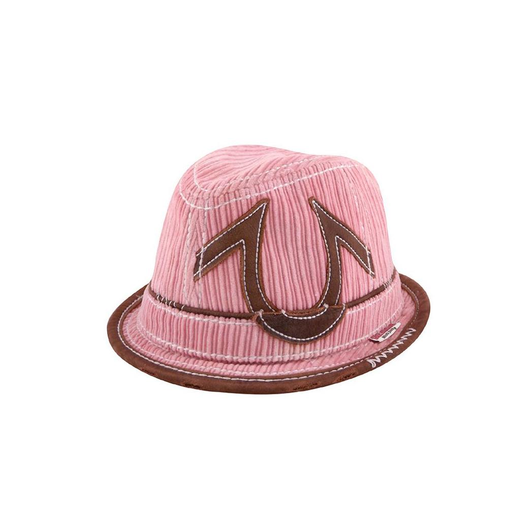 TRUE RELIGION 粉紅色燈芯絨仿舊休閒帽【S/M】