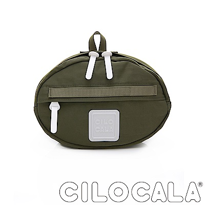 CILOCALA 亮彩尼龍防潑水TAMAGO側背包  橄欖綠色
