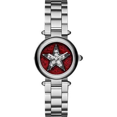 Marc Jacobs Dotty 紐約之星魔幻晶鑽女錶-紅x銀/26mm