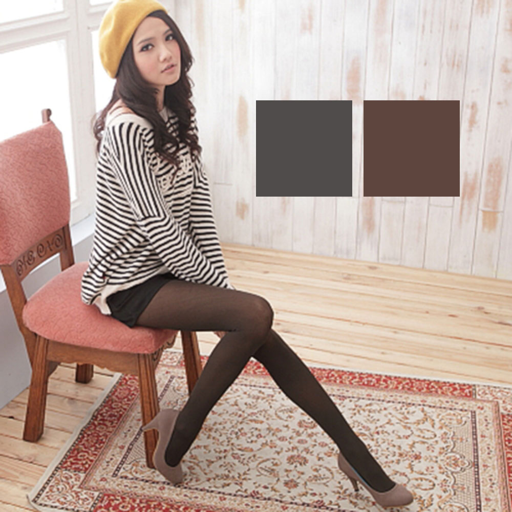 I-shi vivi流行彩色褲襪灰咖