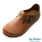 Joy Walker 簡約扣帶休閒包鞋*駝咖