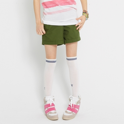 TOP-GIRL-純色反折休閒短褲-共五色