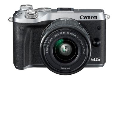 Canon EOS M6 + 15-45mm 變焦鏡組 (平輸中文)-銀色