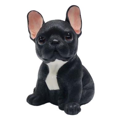 摩達客 超萌擬真黑黑大旺鬥牛犬創意狗狗寵物擺飾(單入)