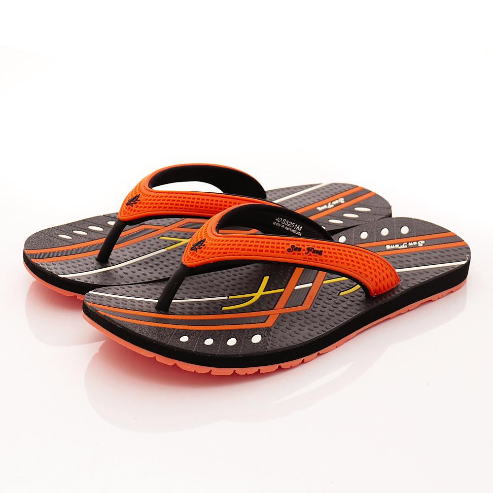 San Fang-GP同級鞋款-夾腳涼拖系列-5251M42橘(男)