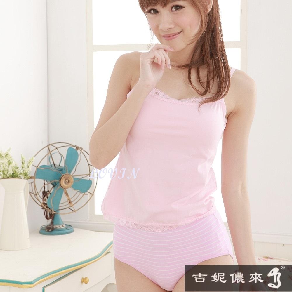(活動)吉妮儂來12件組舒適加大尺碼竹炭底條紋棉褲(隨機取色)