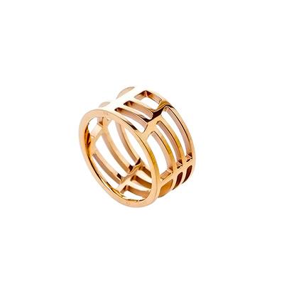 CK Calvin Klein  DRAW 優雅玫瑰金縷空戒指