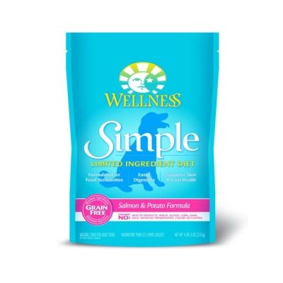 WELLNESS《Simple單一蛋白系列-成犬無穀 鮭魚馬鈴薯》10磅