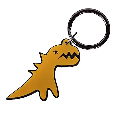 agnes b. SPORT b閃電恐龍鑰匙圈-黃