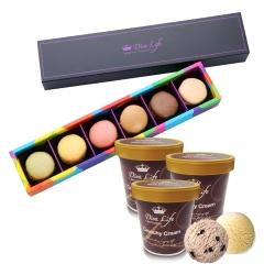 Diva Life 馬卡龍純禮盒6入+冰淇淋品脫3入