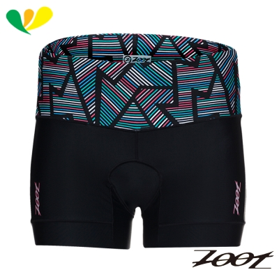 ZOOT 專業級肌能4吋鐵人褲(女)(線彩黑) Z1706008