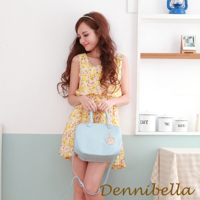 Dennibella 丹妮貝拉 -真皮手提斜背包-藍