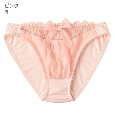 aimerfeel-淑女透視蕾絲雪紡內褲-粉紅色