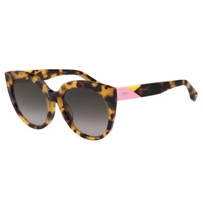FENDI 時尚造型太陽眼鏡 (琥珀色)FF0182FS