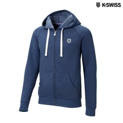 K-Swiss Raglan Slv Hood Jkt休閒連帽外套-男-藍