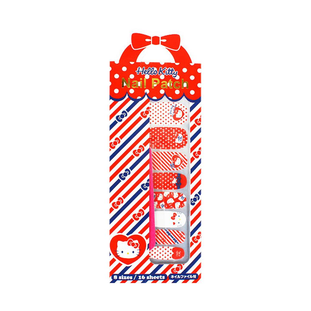 Sanrio HELLO KITTY彩繪指甲貼片(點點海洋風)