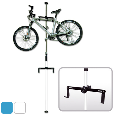 WISH台灣製造頂天地自行車可調式吊車桿吊車柱停車架