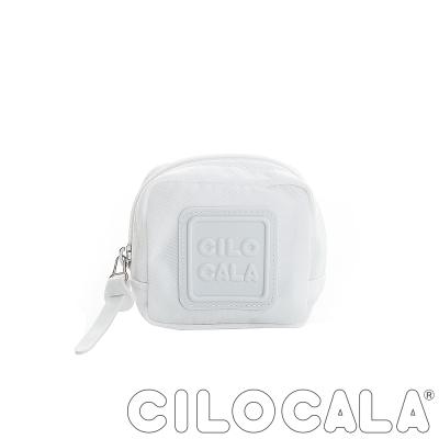 CILOCALA 亮彩尼龍防潑水可扣式零錢包 白色