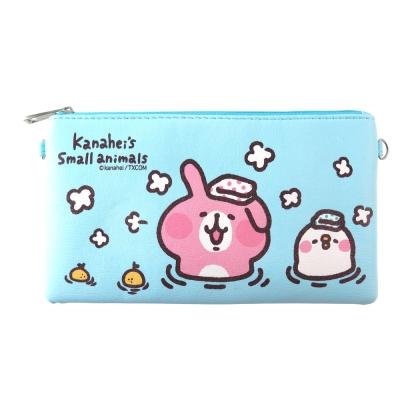 Kanahei卡娜赫拉皮質橫式手機袋/萬用包/手腕袋_泡澡