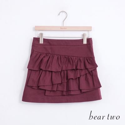 beartwo不規則層次波浪剪裁蛋糕短裙-共兩色