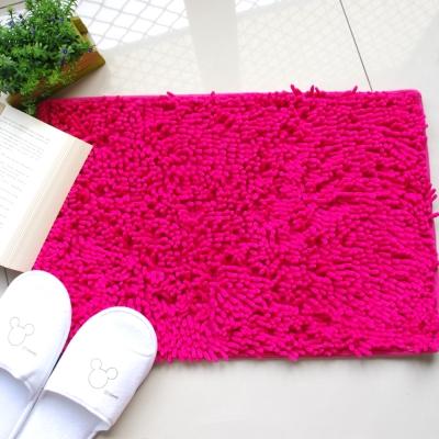 新一代 珊瑚絨毛地墊 桃紅色一個 60×40cm