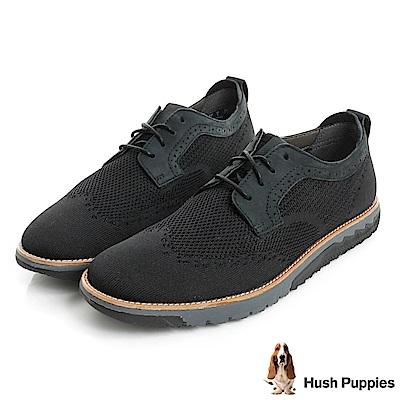 Hush Puppies EXPERT 風尚運動休閒鞋-黑色